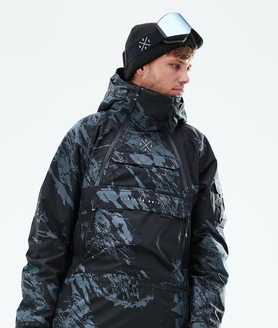 Dope Akin Snowboard Jacket Paint Metal Blue