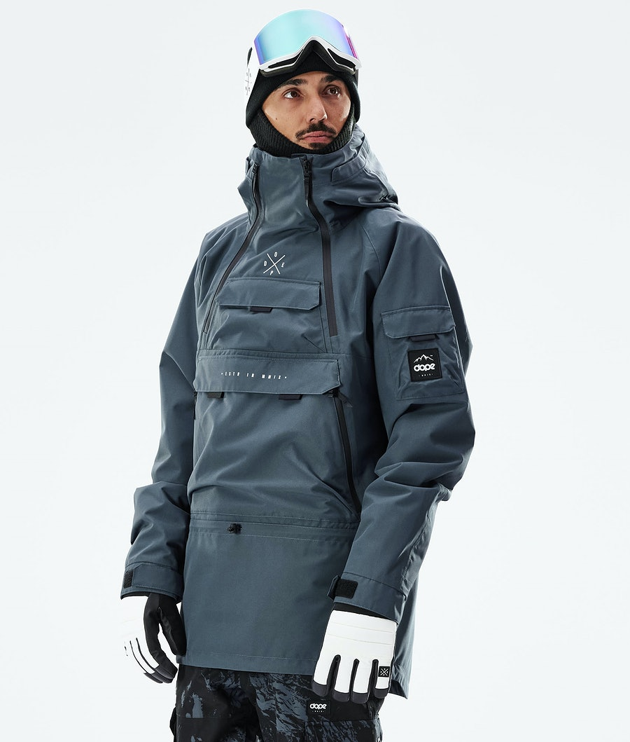 Dope Akin Snowboard Jacket Metal Blue