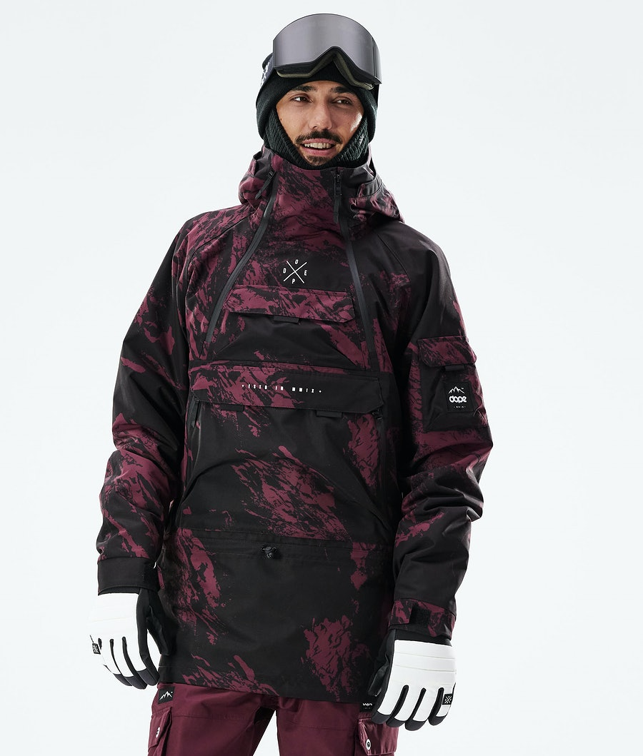 Dope Akin Snowboard Jacket Paint Burgundy