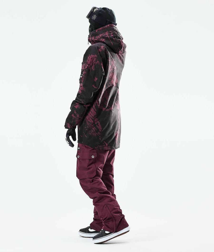Dope Akin Snowboardjacka Paint Burgundy