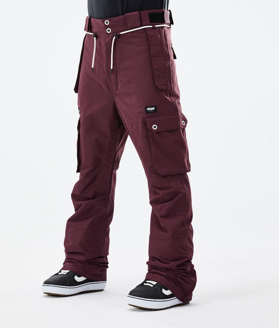 Dope Iconic Snowboard Pants Burgundy