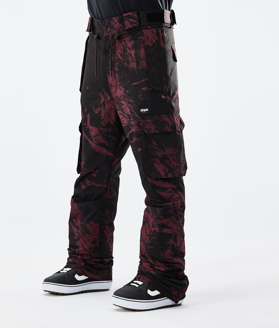 Dope Iconic Snowboard Pants Paint Burgundy