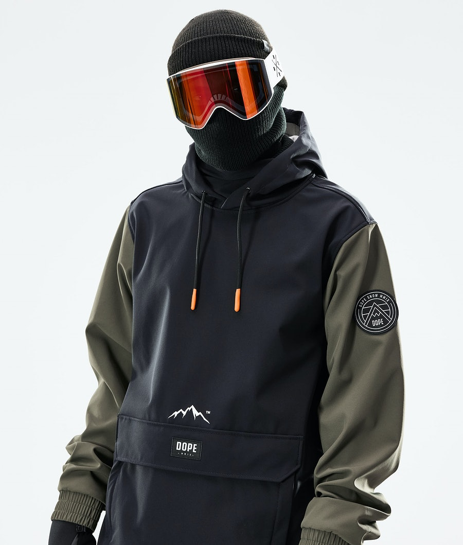 Dope Wylie Snowboardjacka Black/Olive Green