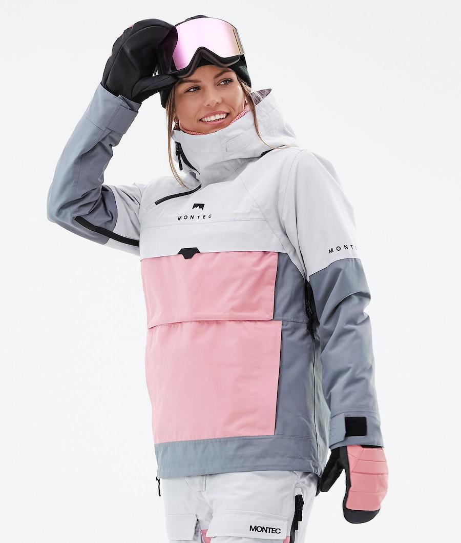 Montec Dune W Ski Jacket Light Grey/Pink/Light Pearl