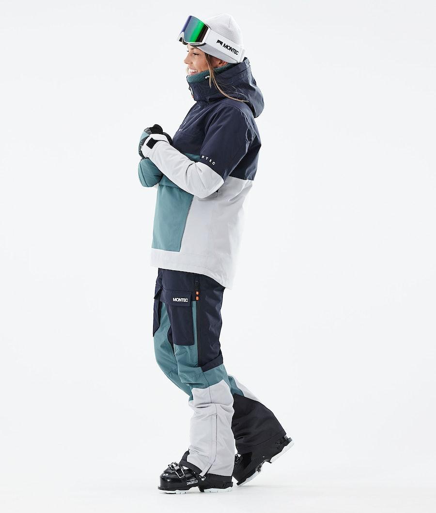 Montec Dune W Women's Ski Jacket Marine/Atlantic/Light Grey