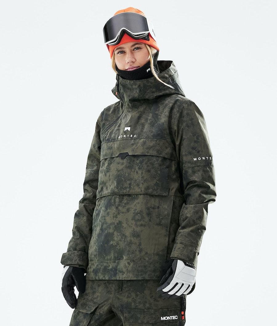 Montec Dune W Ski Jacket Olive Green Tiedye