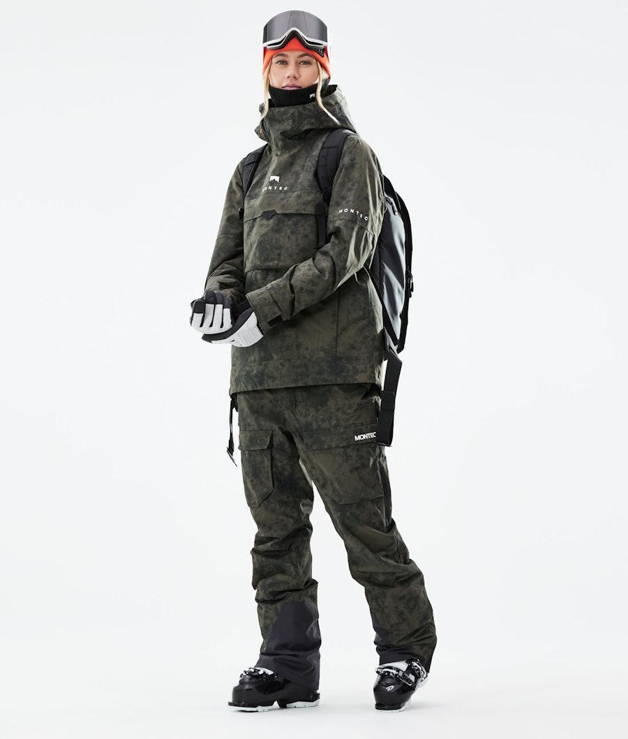 Montec Dune W Women's Ski Jacket Olive Green Tiedye