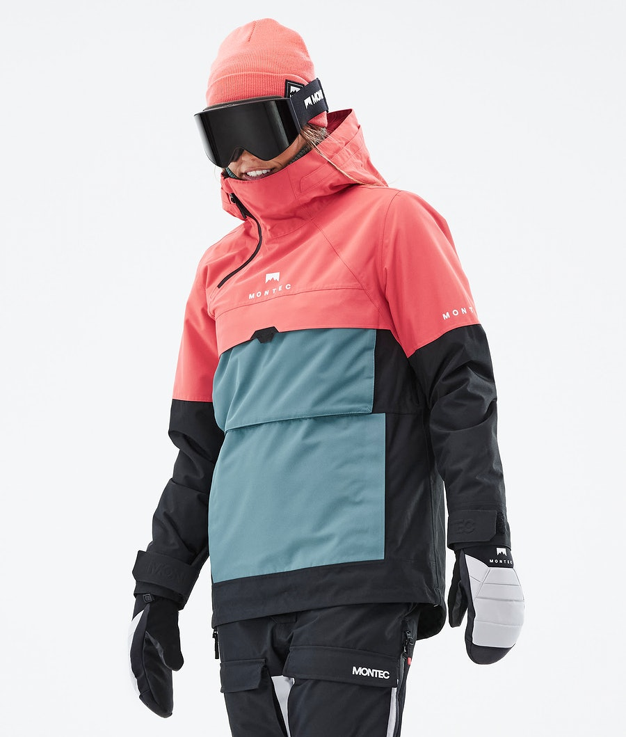 Montec Dune W Ski Jacket Coral/Atlantic/Black