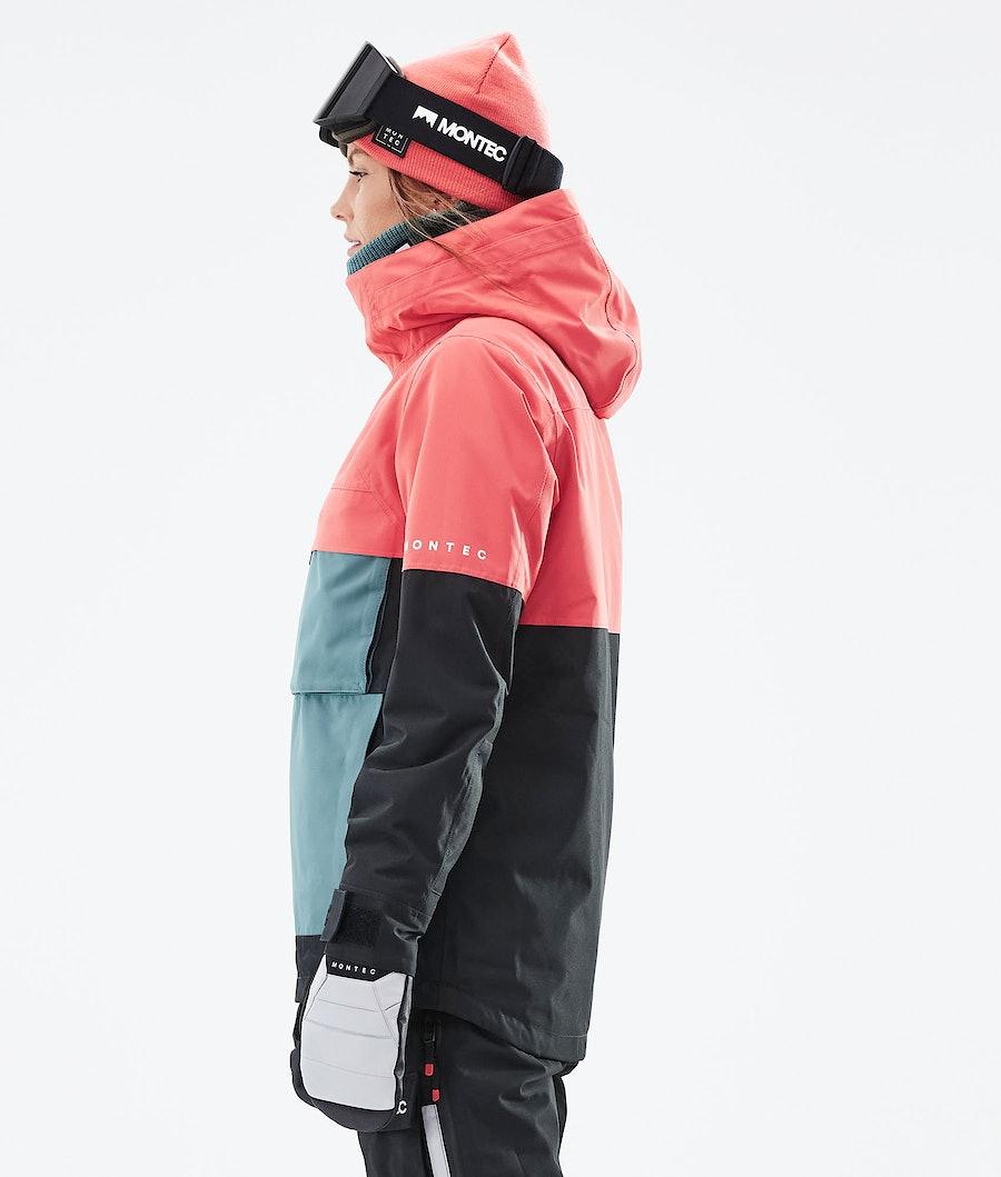 Montec Dune W Women's Ski Jacket Coral/Atlantic/Black