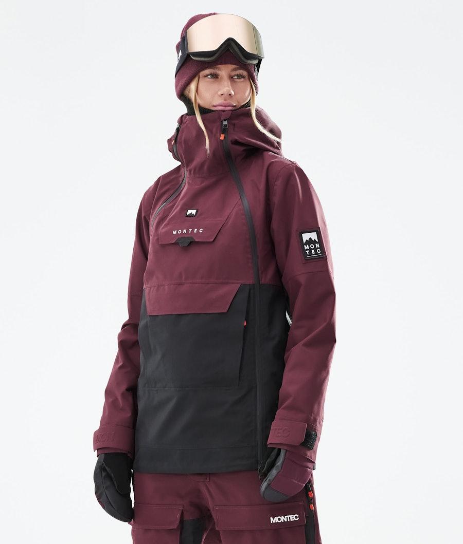 Montec Doom W Ski Jacket Burgundy/Black