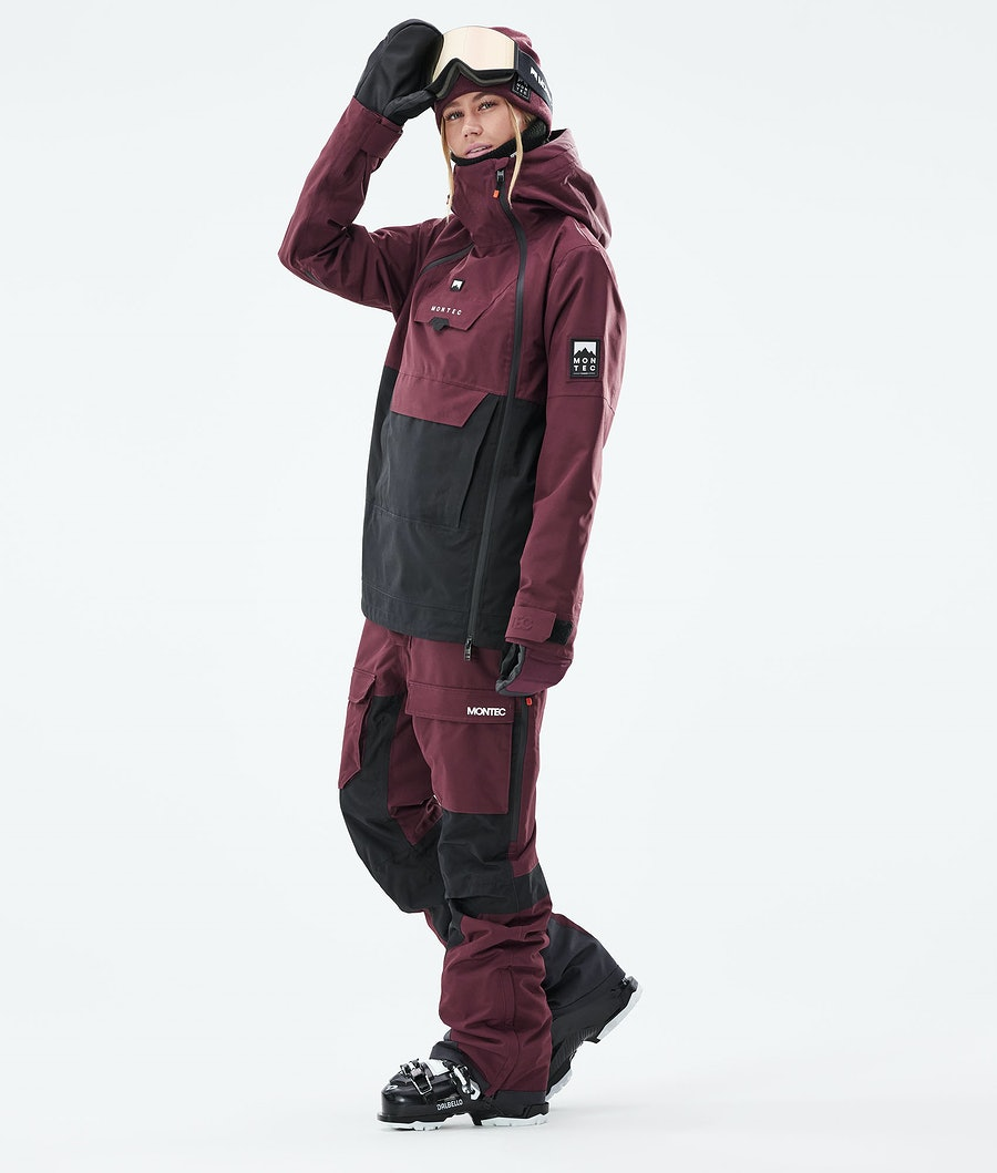 Montec Doom W Women's Ski Jacket Burgundy/Black