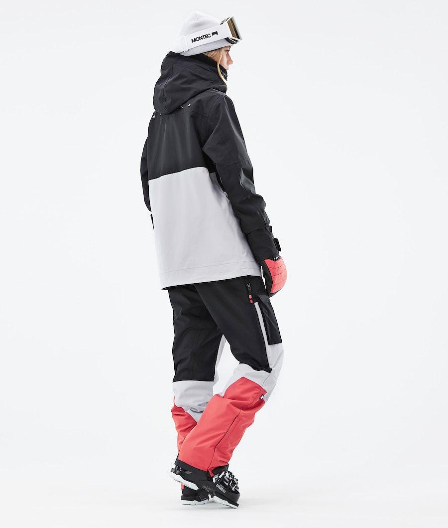 Montec Doom W Women's Ski Jacket Black/Coral/Light Grey