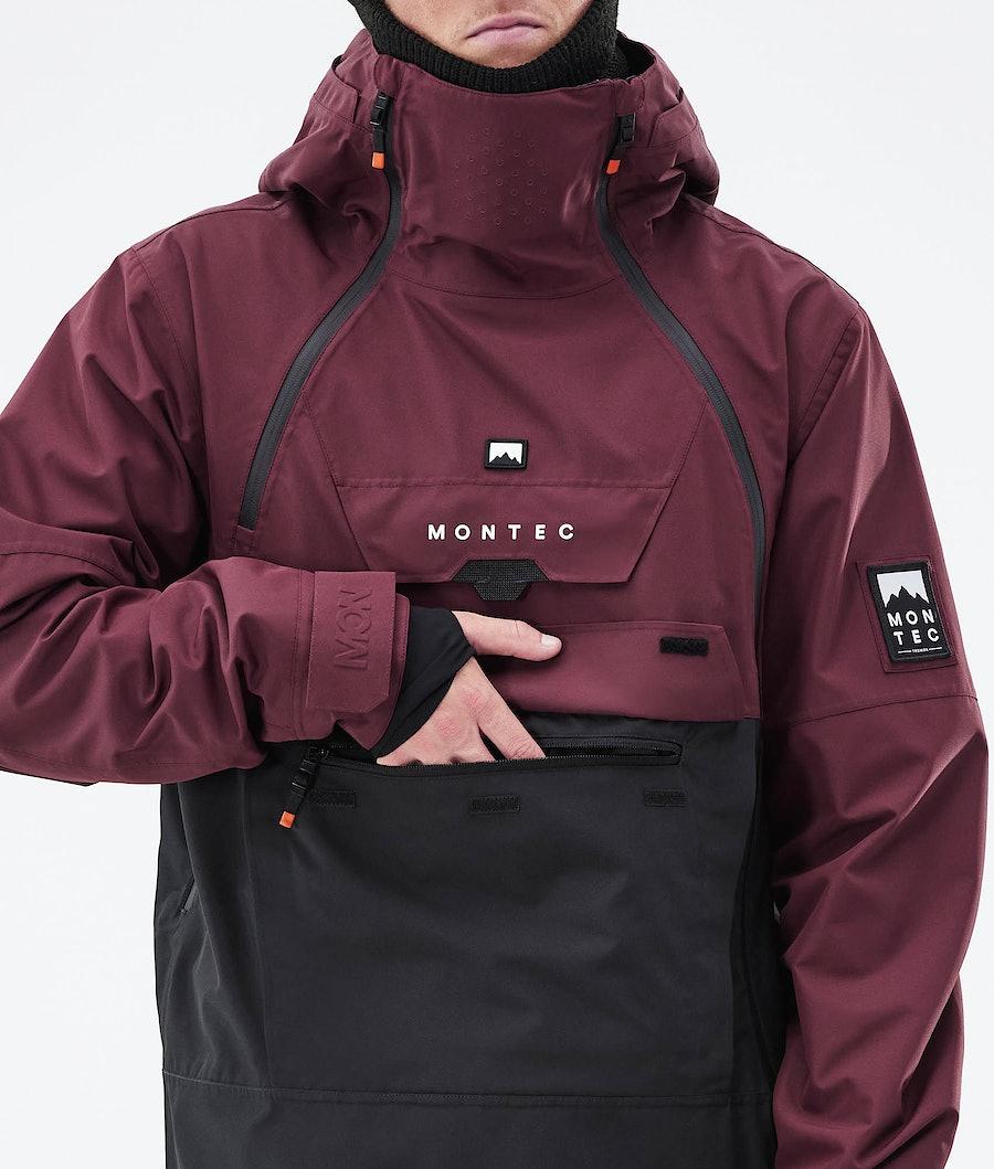 Montec Doom Ski Jacket Burgundy/Black
