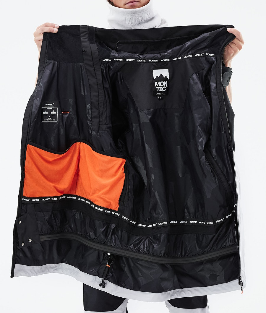 Montec Doom Ski Jacket Black/Light Pearl/Light Grey