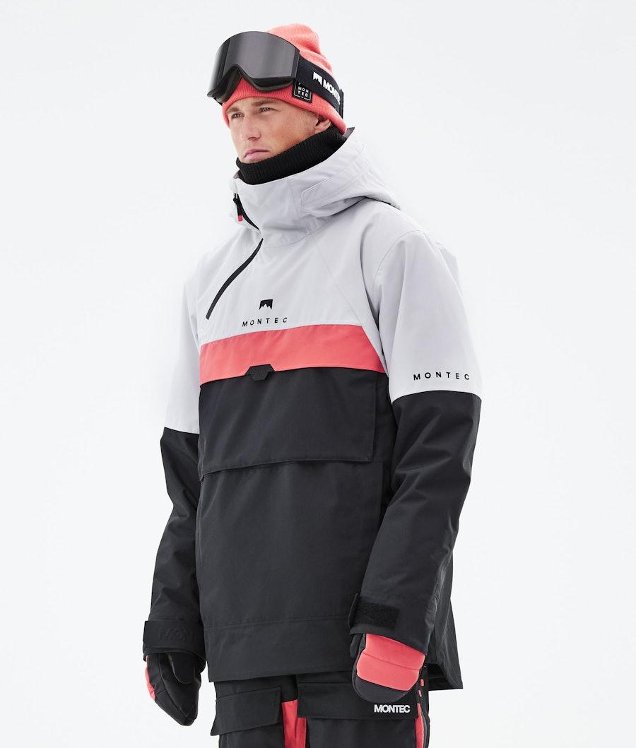 Montec Dune Ski Jacket Light Grey/Coral/Black