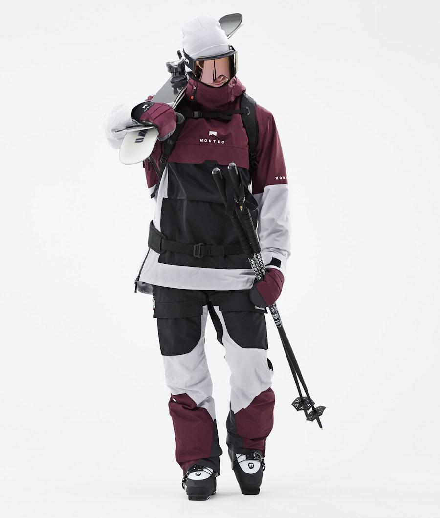 Montec Dune Ski Jacket Burgundy/Black/Light Grey