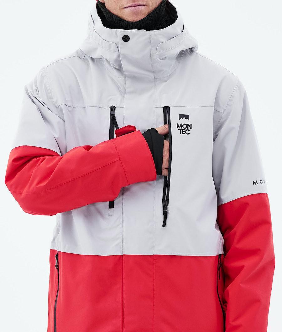 Montec Fawk Ski Jacket Light Grey/Red