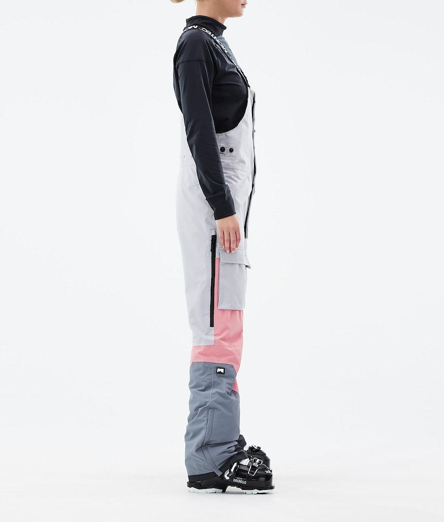 Montec Fawk W Women's Ski Pants Light Grey/Pink/Light Pearl