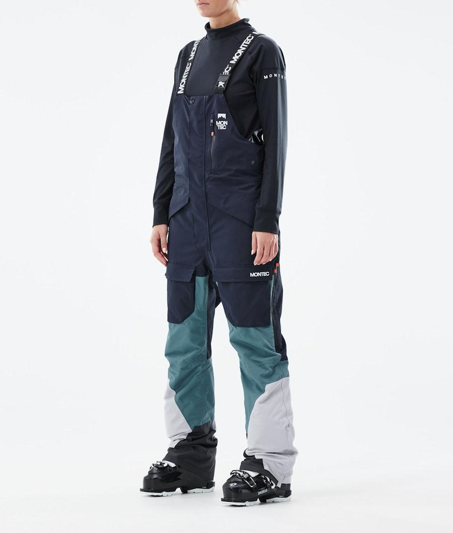 Montec Fawk W Women's Ski Pants Marine/Atlantic/Light Grey
