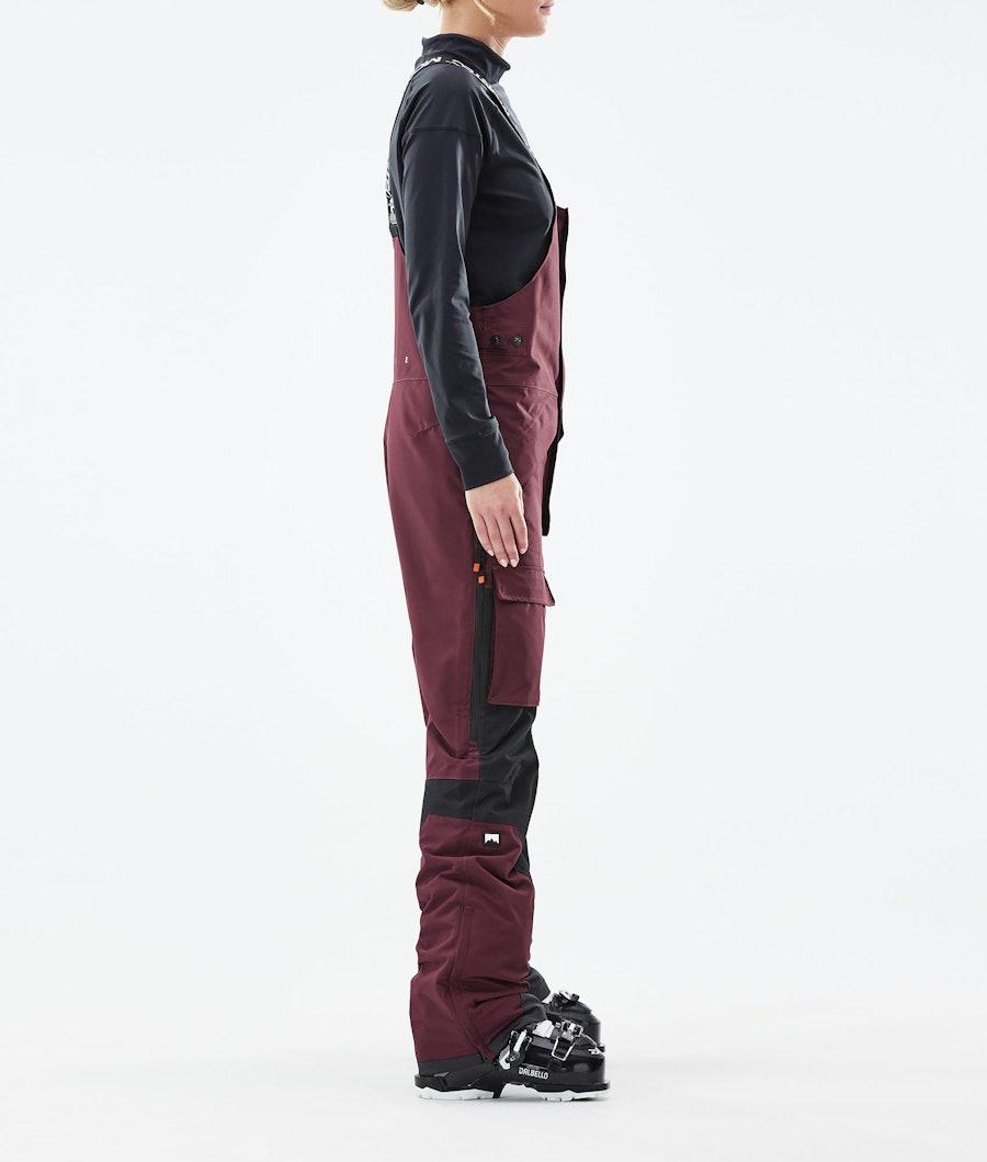 Montec Fawk W Women's Ski Pants Burgundy/Black
