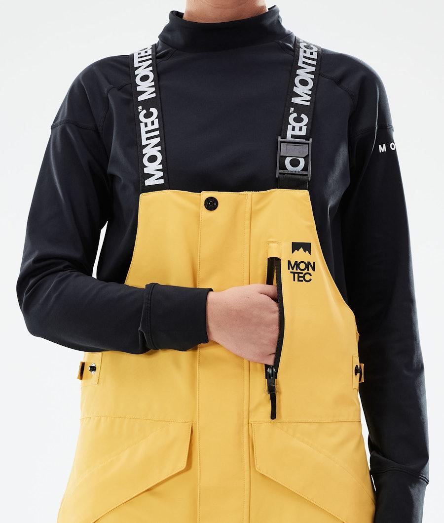 Montec Fawk W Women's Ski Pants Yellow/Black