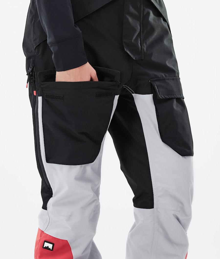 Montec Fawk W Women's Ski Pants Black/Light Grey/Coral