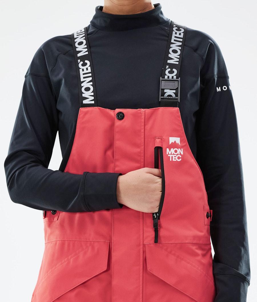 Montec Fawk W Women's Ski Pants Coral/Black