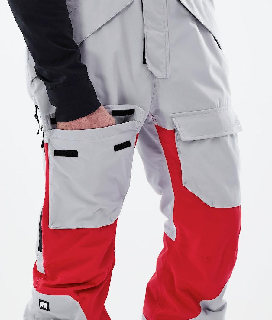 Montec Fawk Ski Pants Light Grey/Red