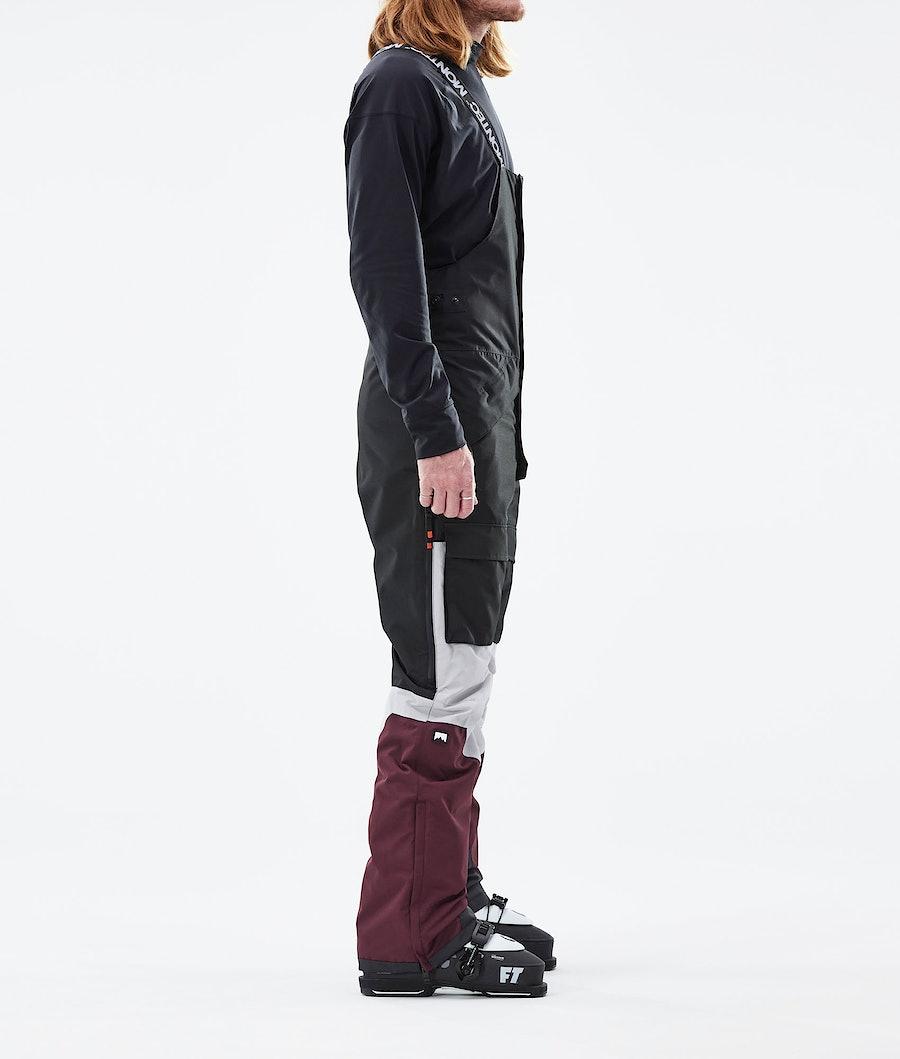 Montec Fawk Ski Pants Black/Light Grey/Burgundy