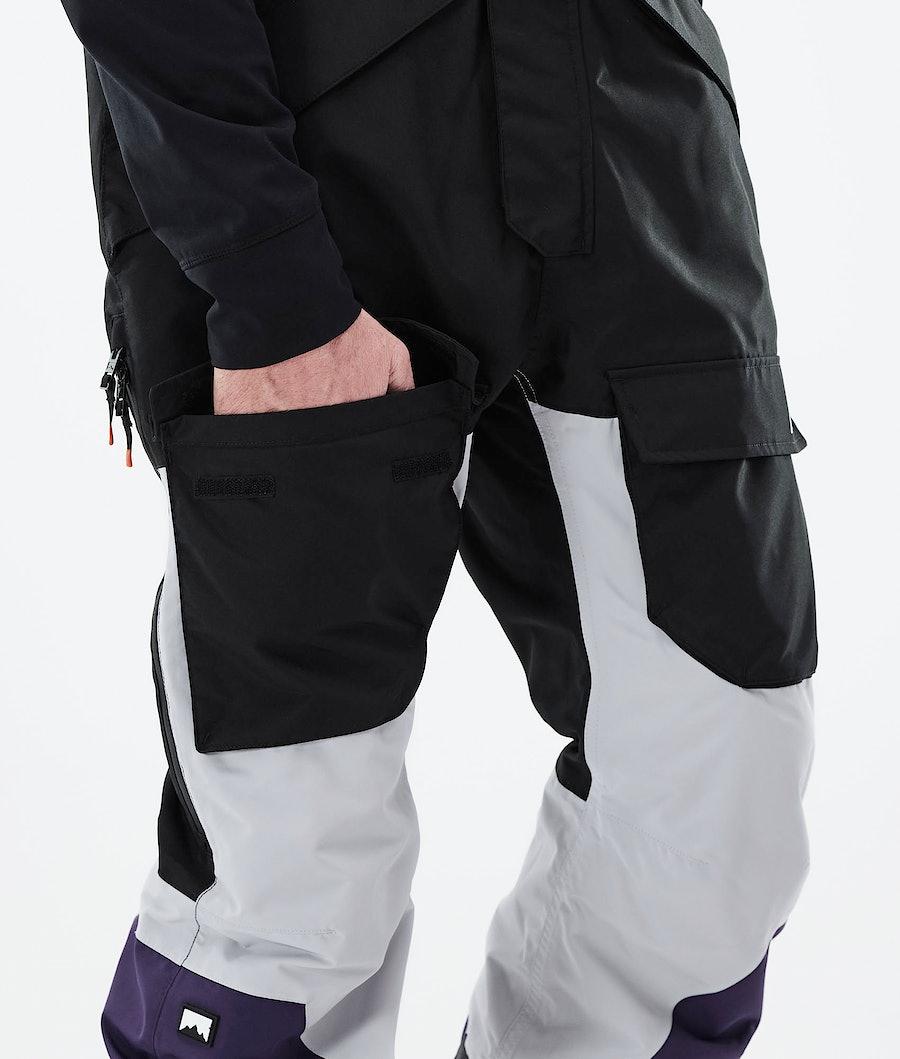 Montec Fawk Ski Pants Black/Light Grey/Purple