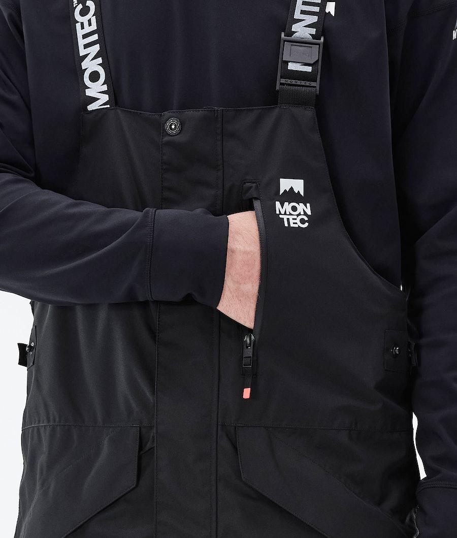 Montec Fawk Ski Pants Black/Coral/LightGrey