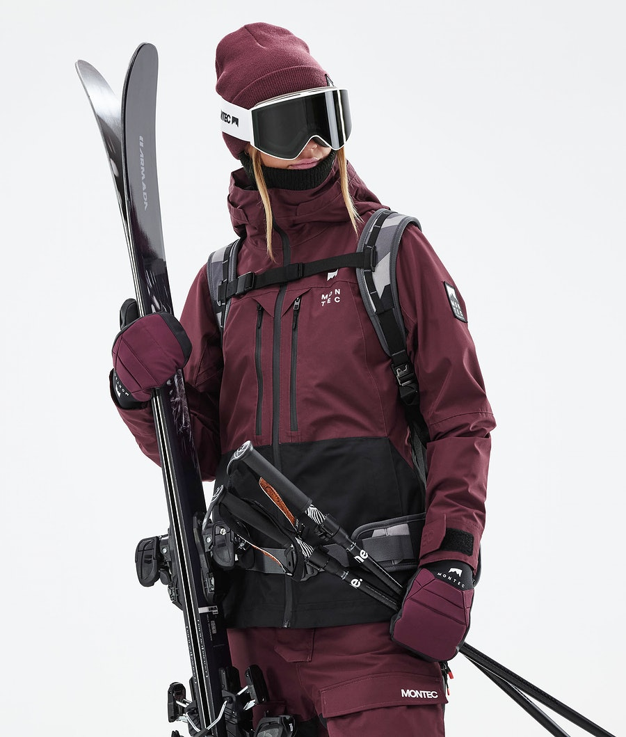Montec Moss W Ski Jacket Burgundy/Black