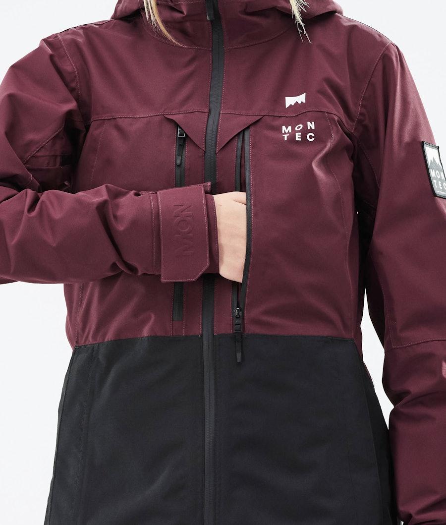 Montec Moss W Women's Ski Jacket Burgundy/Black