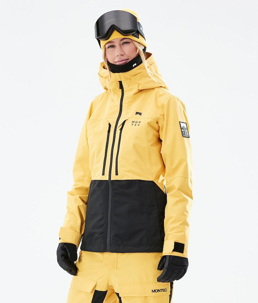 Montec Moss W Ski Jacket Yellow/Black