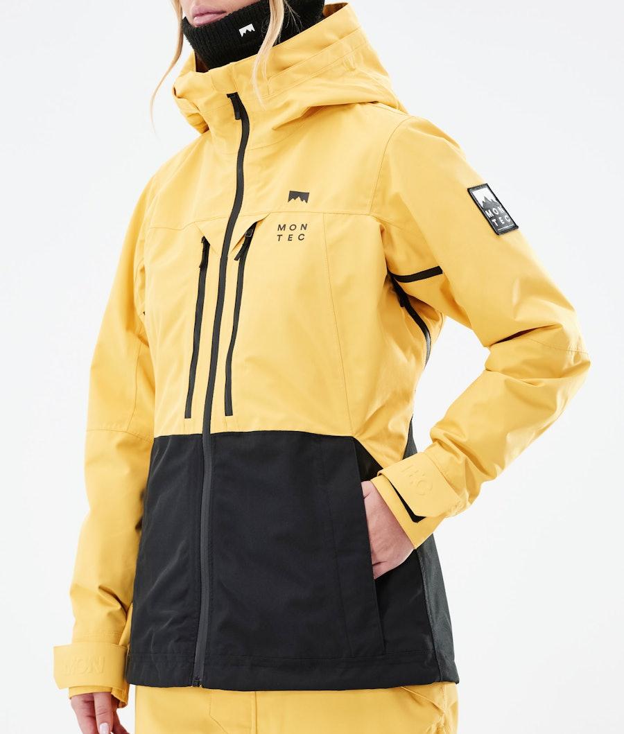 Montec Moss W Women's Ski Jacket Yellow/Black
