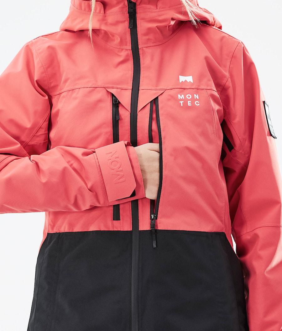 Montec Moss W Women's Ski Jacket Coral/Black