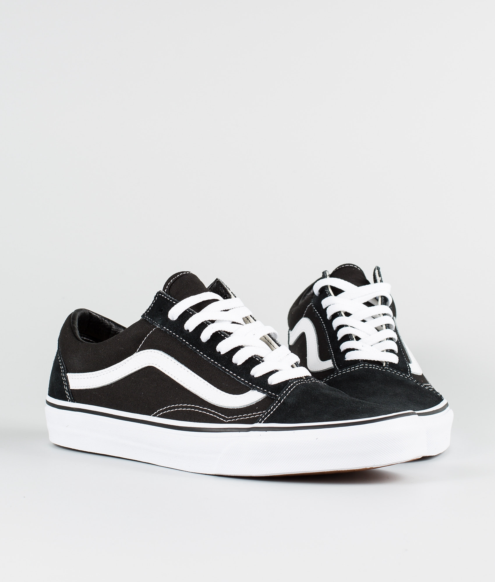 Vans Old Skool Shoes Black White - Ridestore.com b814ba6f0987