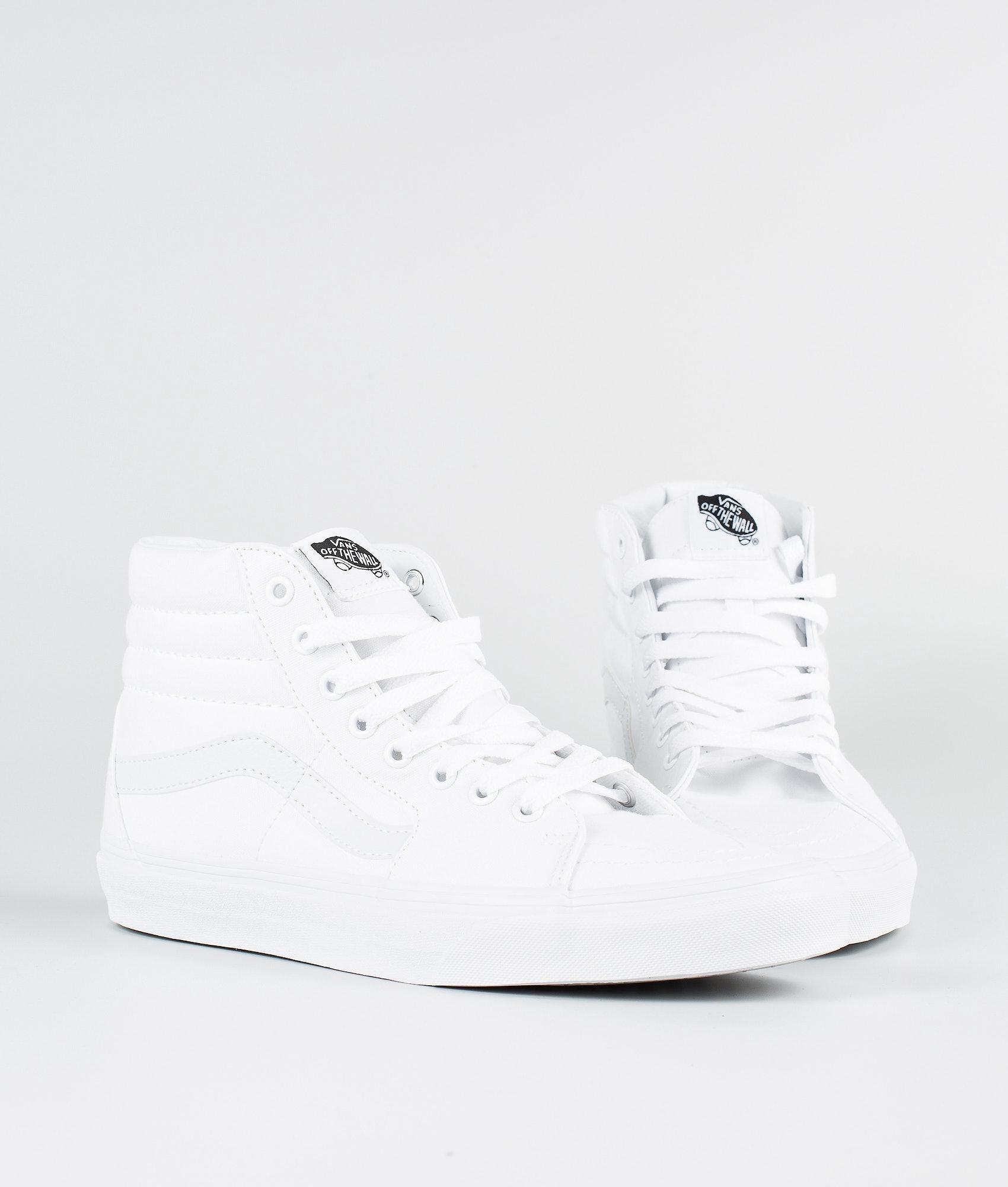 Vans Sk8-Hi Shoes True White - Ridestore.com cd72e5e03