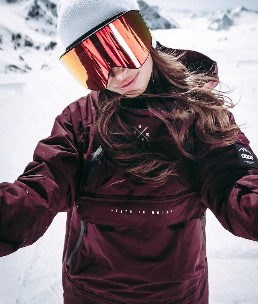 Dope Akin W 18 Giacca da Snowboard Donna Burgundy