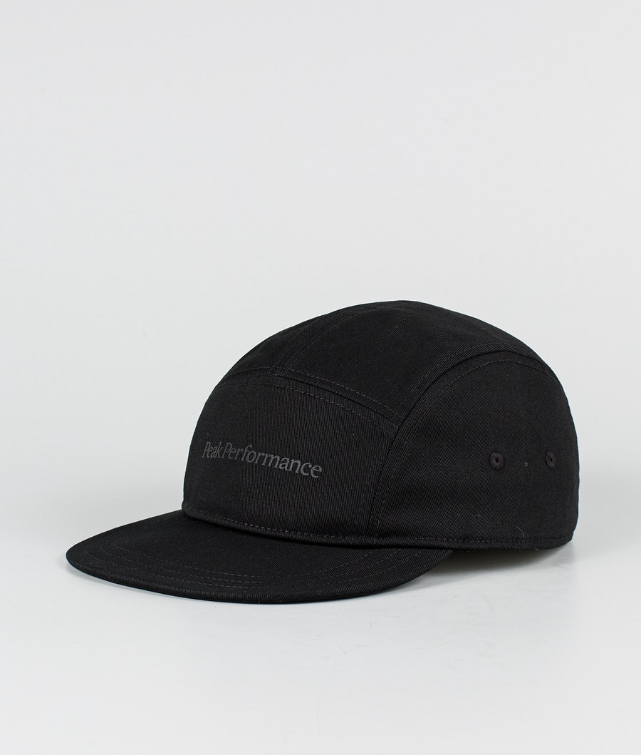 Peak Performance 5 Panel Cap Cap Black