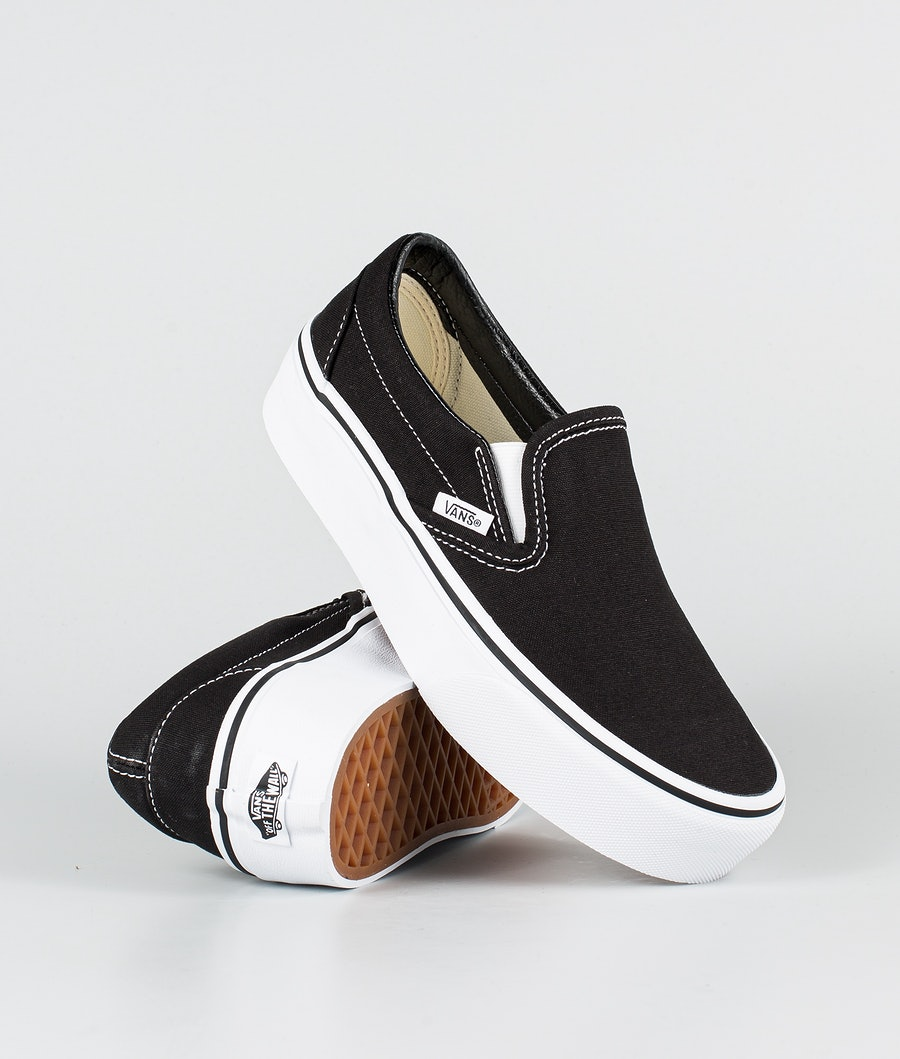 Vans Ua Classic Slip-On Platform Skor Black