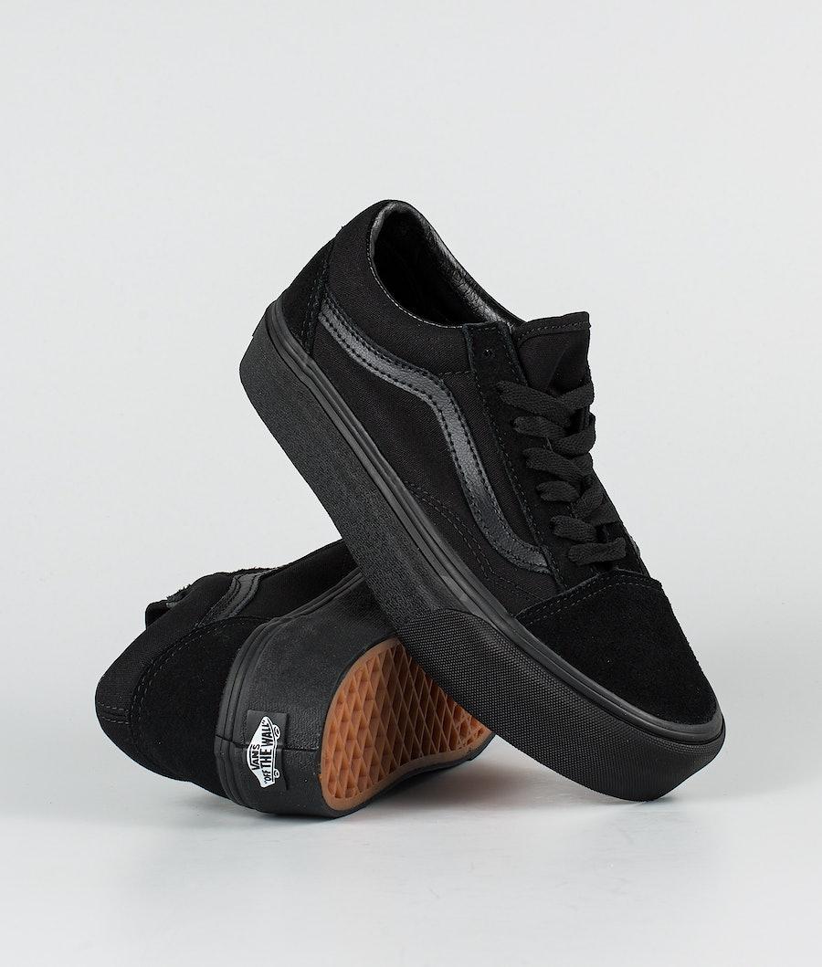 Vans Ua Old Skool Platform Chaussures Black/Black