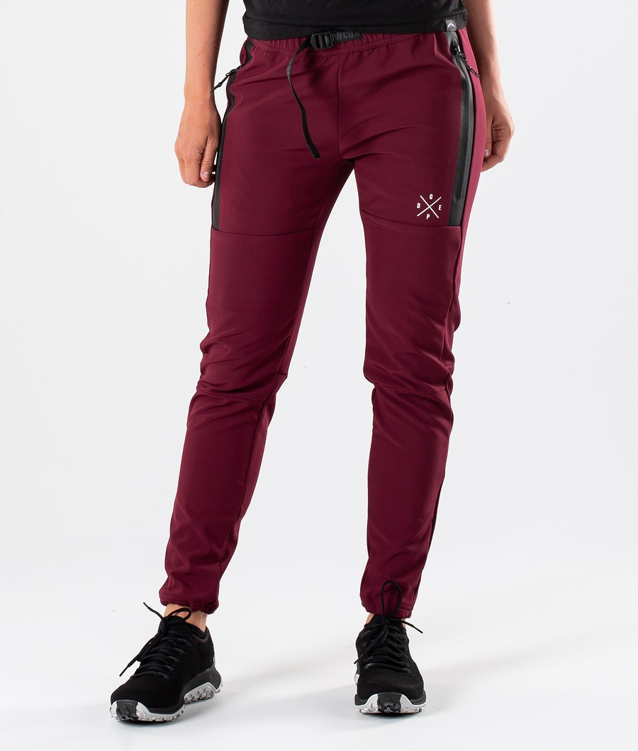 Dope Rambler 19 W Women's Outdoor Trousers Burgundy