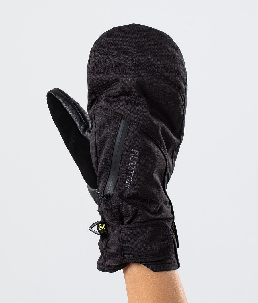Burton Baker 2 In 1 Under Mitt Ski Gloves True Black