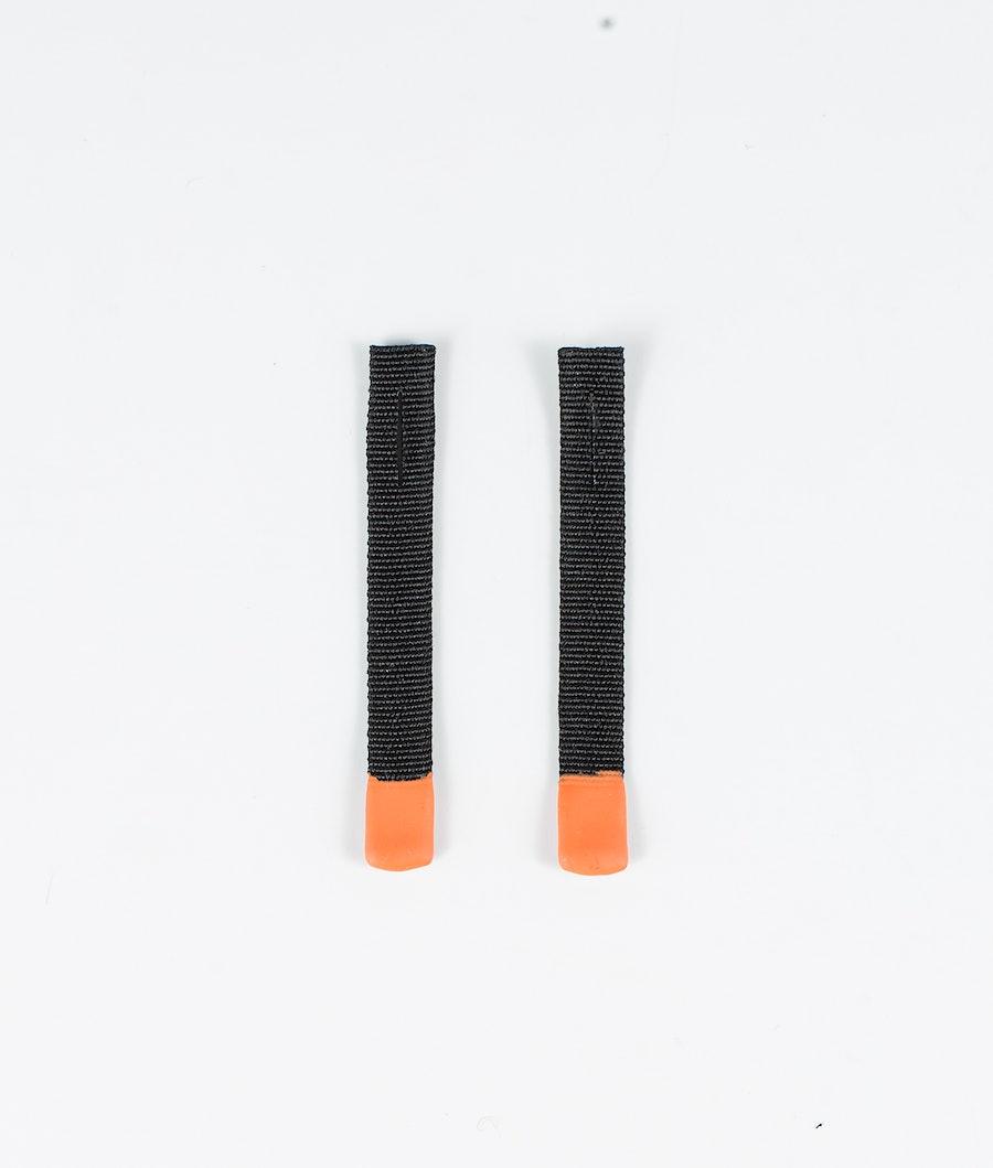 Zip Puller Replacement 2pcs Replacement Parts Men Black with orange tip