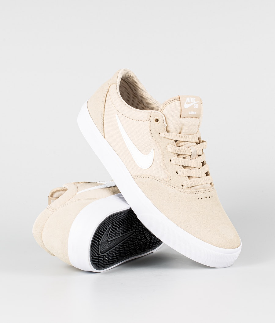 Nike SB Chron Solarsoft Shoes Grain/White-Grain-White