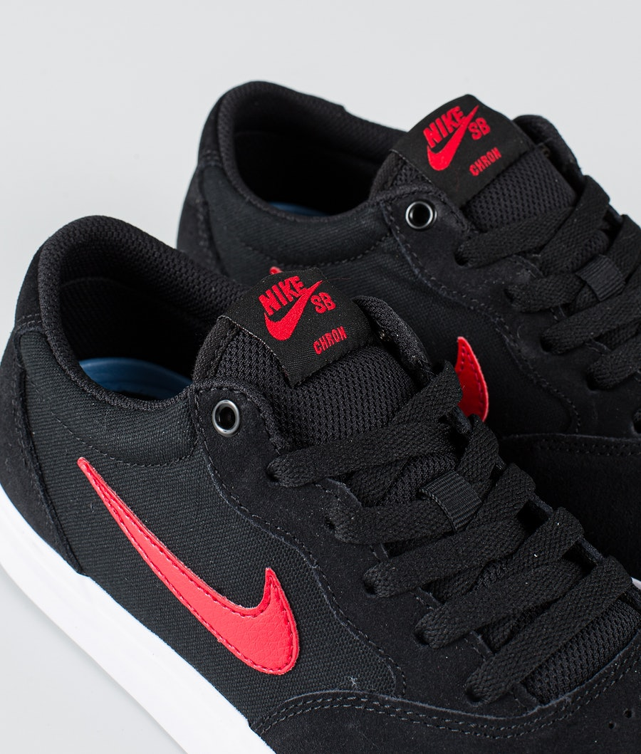 Nike SB Chron Solarsoft Skor Black/University Red