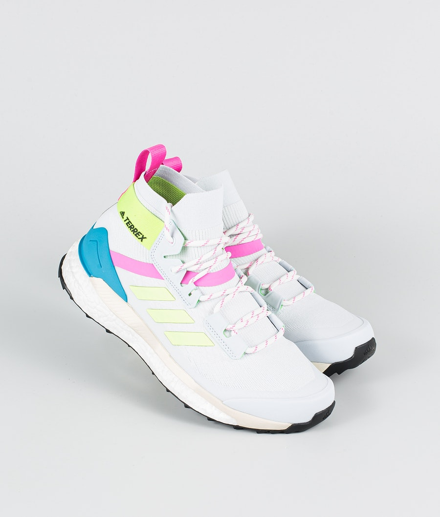 Adidas Terrex Free Hiker Primeblue Skor Halo Blue/Hi-Res Yellow/Scream Pink