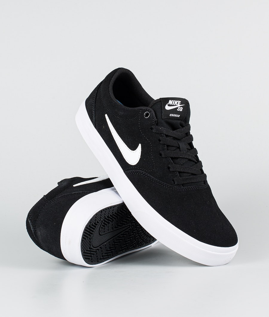 Nike SB Charge suede Sko Black/White-Black