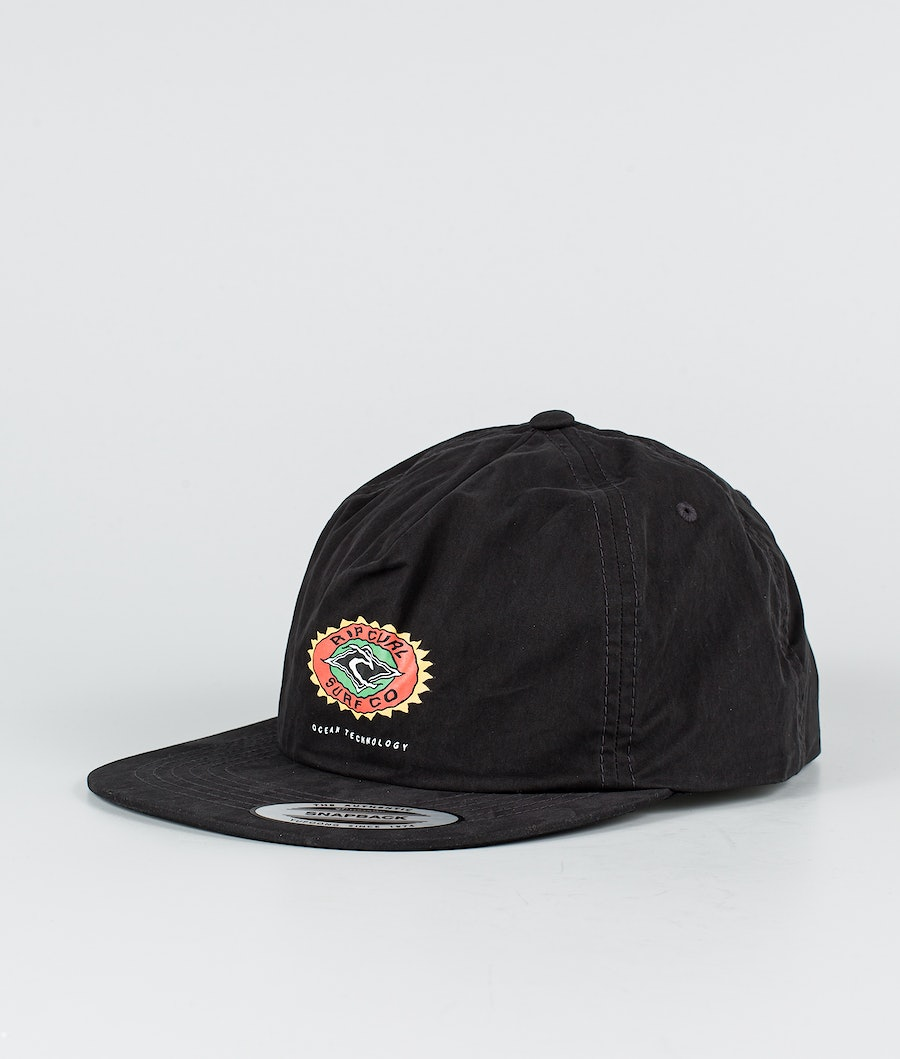 Rip Curl Fade Out Sun Snapback Caps Washed Black